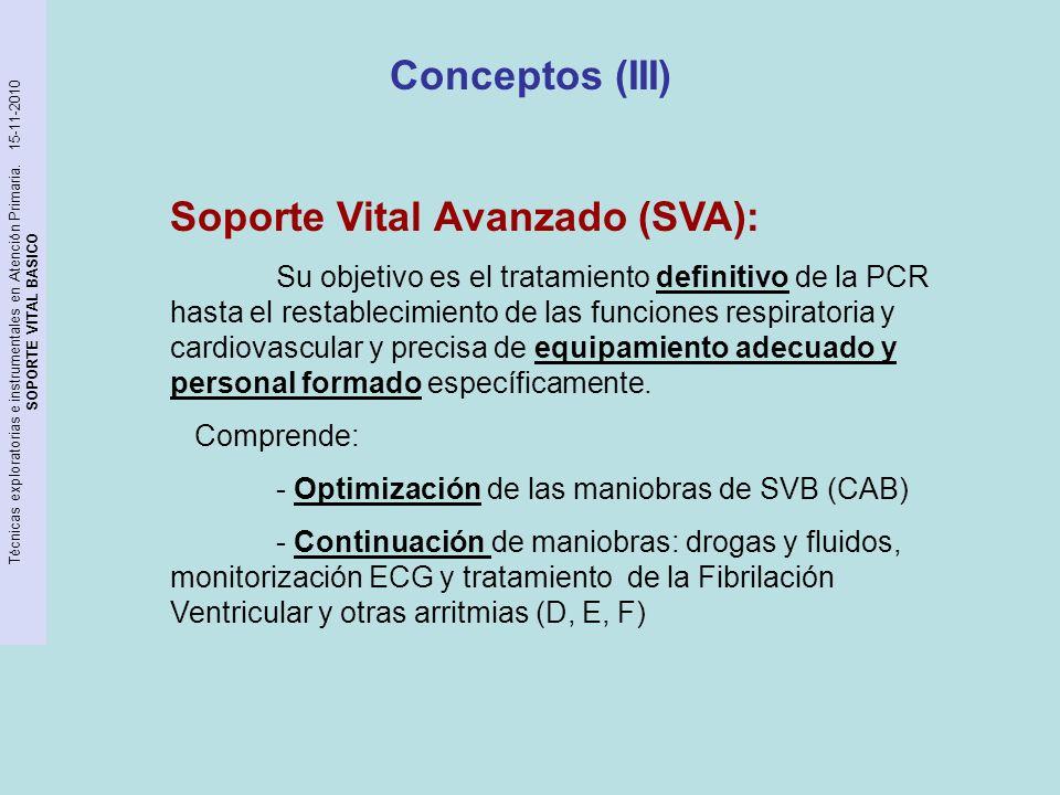 Soporte Vital Avanzado (SVA):