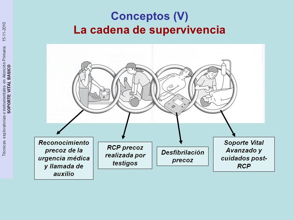 Conceptos (V) La cadena de supervivencia