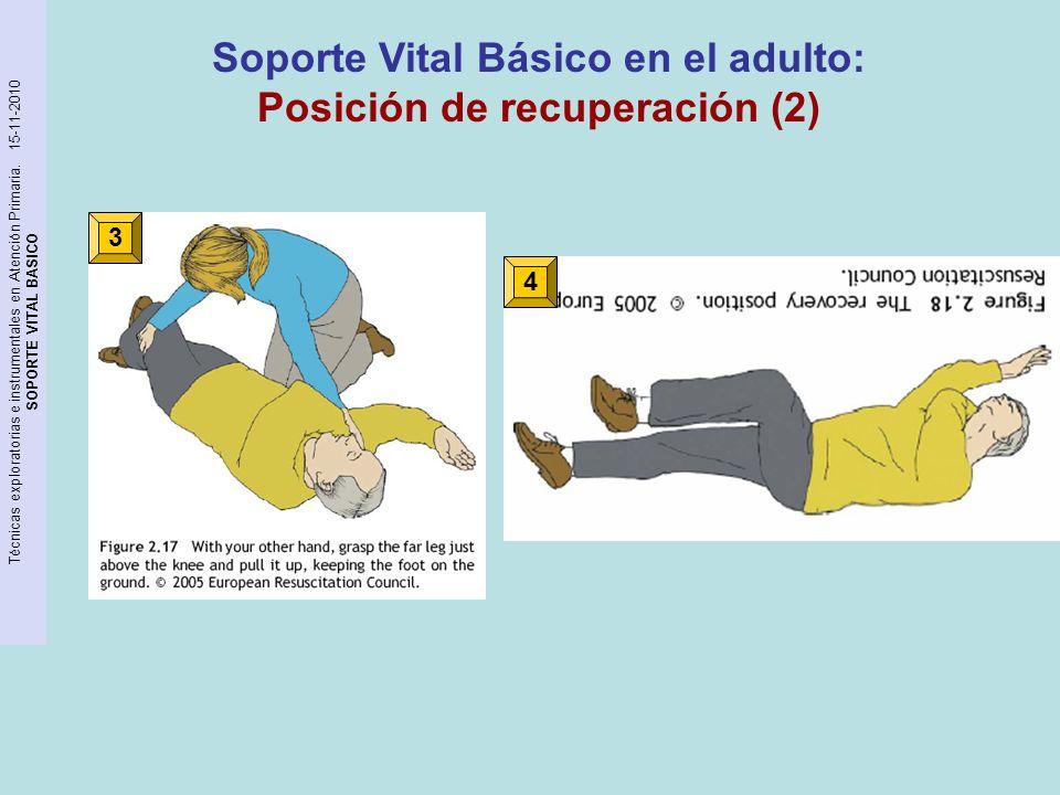 Soporte Vital Básico en el adulto: Posición de recuperación (2)