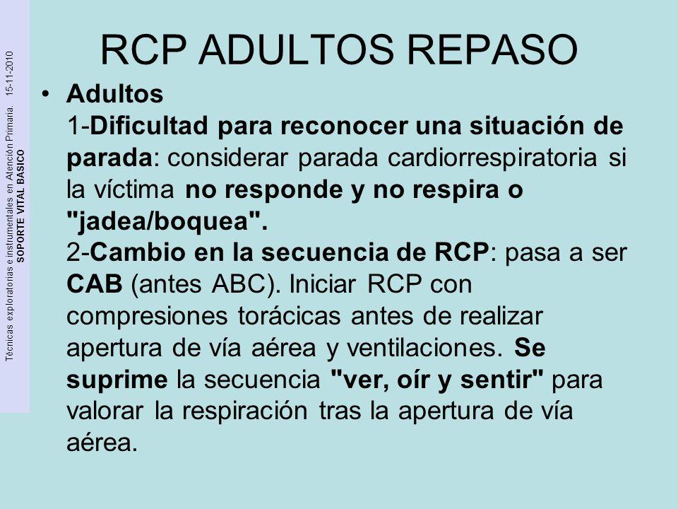 RCP ADULTOS REPASO