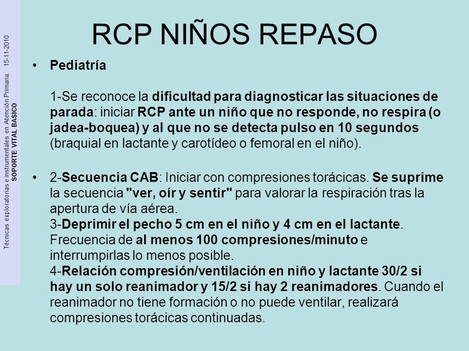 RCP NIÑOS REPASO