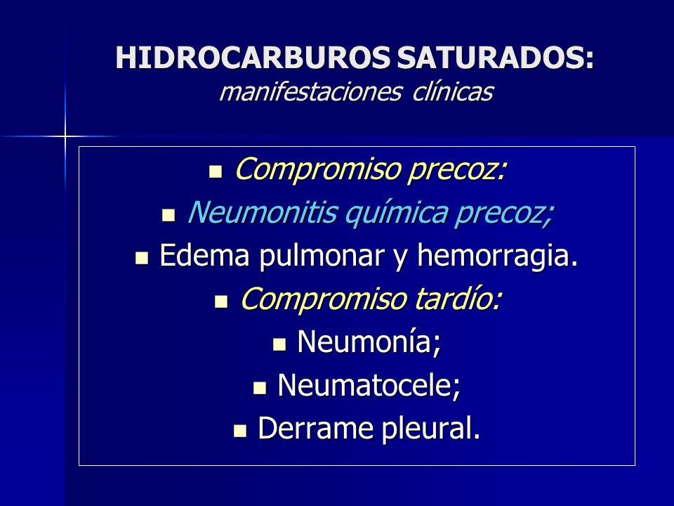 HIDROCARBUROS SATURADOS: manifestaciones clínicas