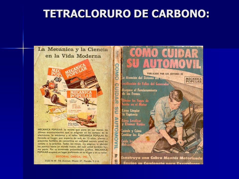 TETRACLORURO DE CARBONO: