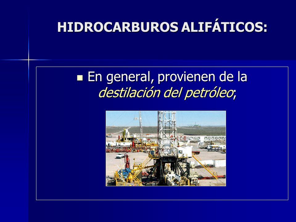 HIDROCARBUROS ALIFÁTICOS: