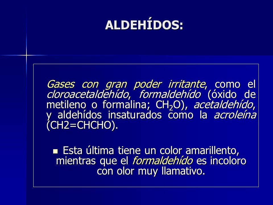 ALDEHÍDOS: