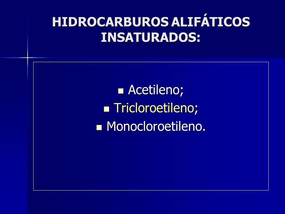 HIDROCARBUROS ALIFÁTICOS INSATURADOS: