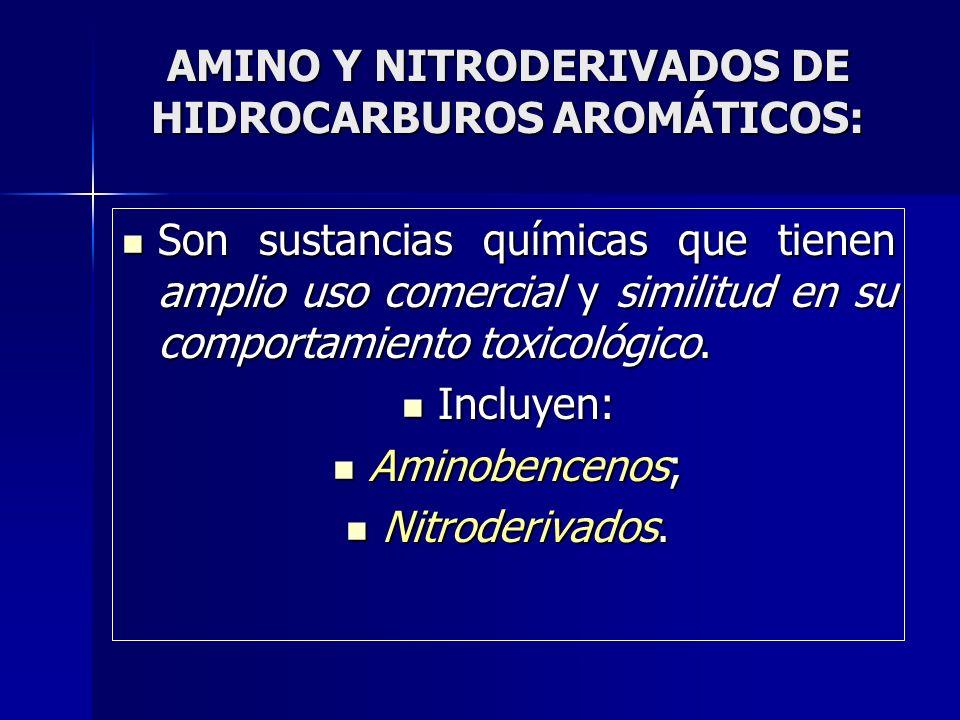 AMINO Y NITRODERIVADOS DE HIDROCARBUROS AROMÁTICOS: