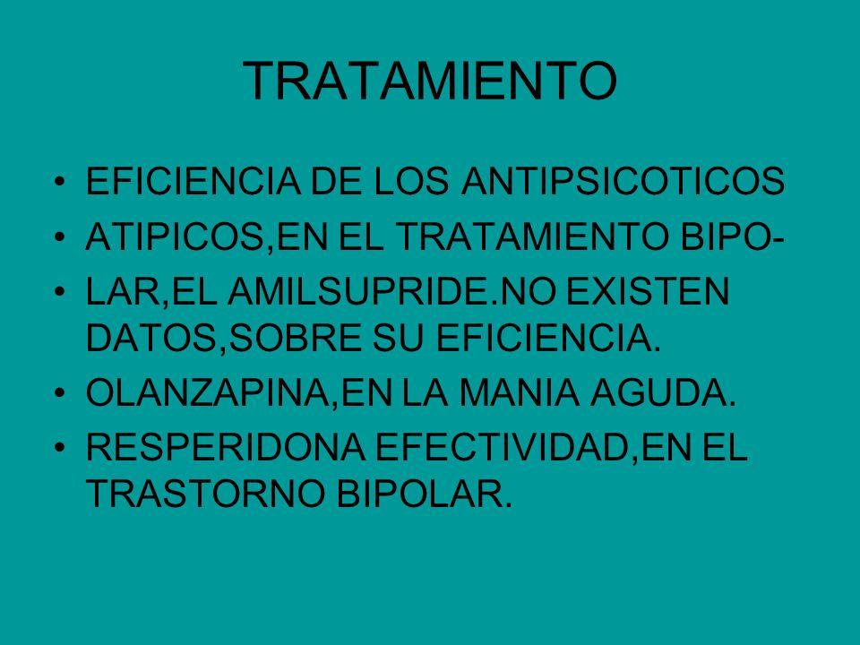 TRATAMIENTO EFICIENCIA DE LOS ANTIPSICOTICOS