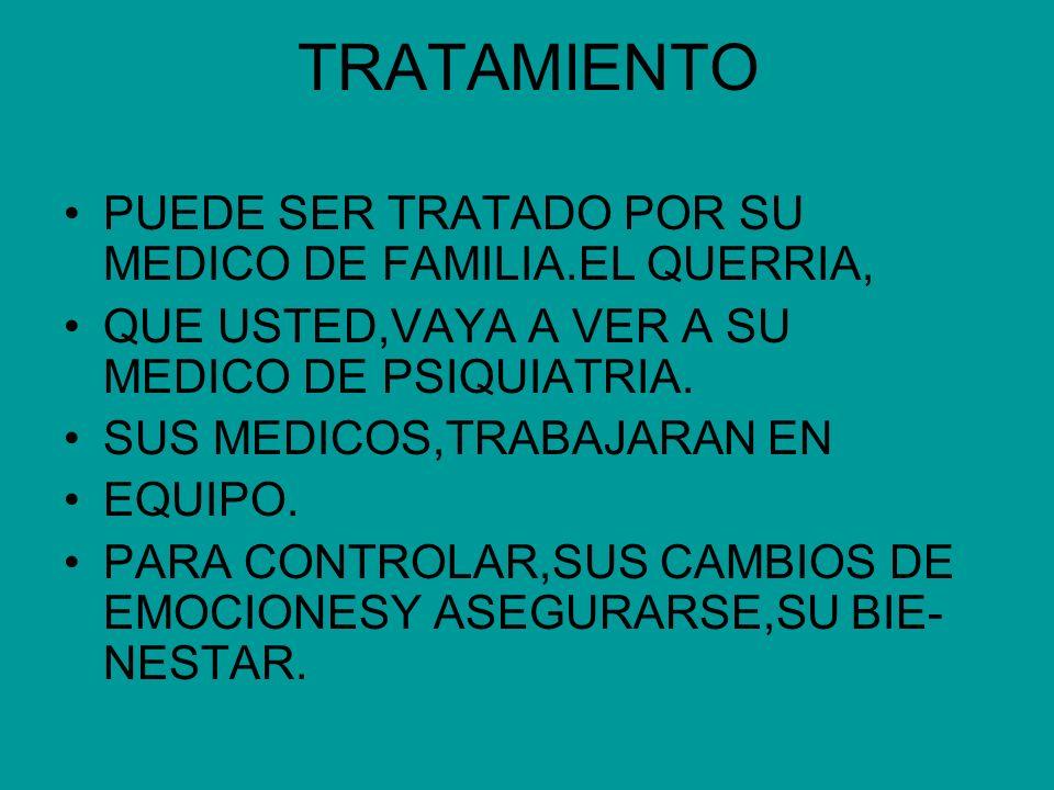 TRATAMIENTO PUEDE SER TRATADO POR SU MEDICO DE FAMILIA.EL QUERRIA,
