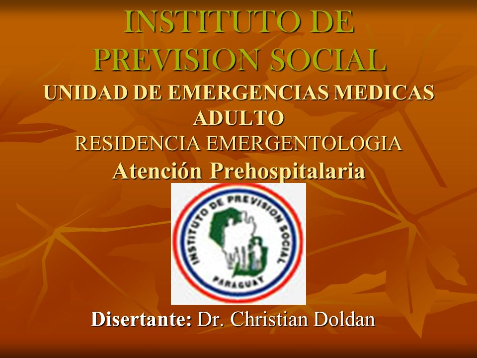 Disertante: Dr. Christian Doldan