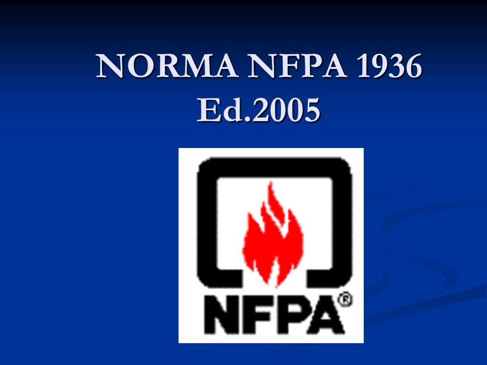 NORMA NFPA 1936 Ed.2005