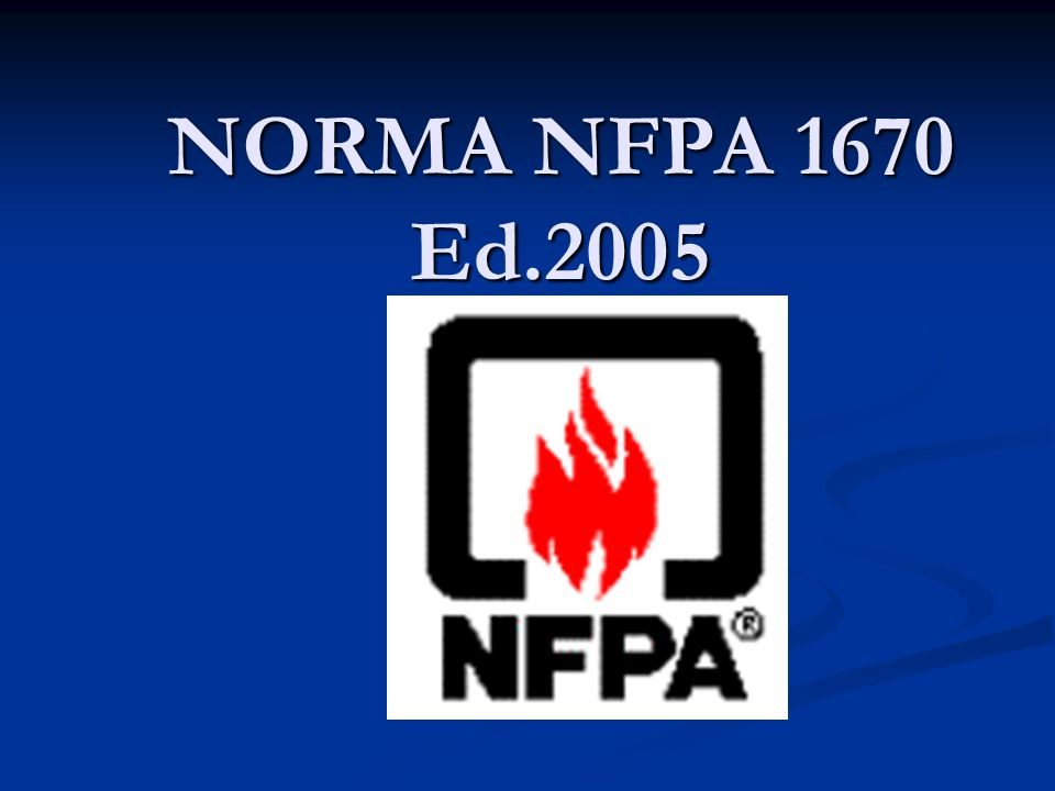 NORMA NFPA 1670 Ed.2005