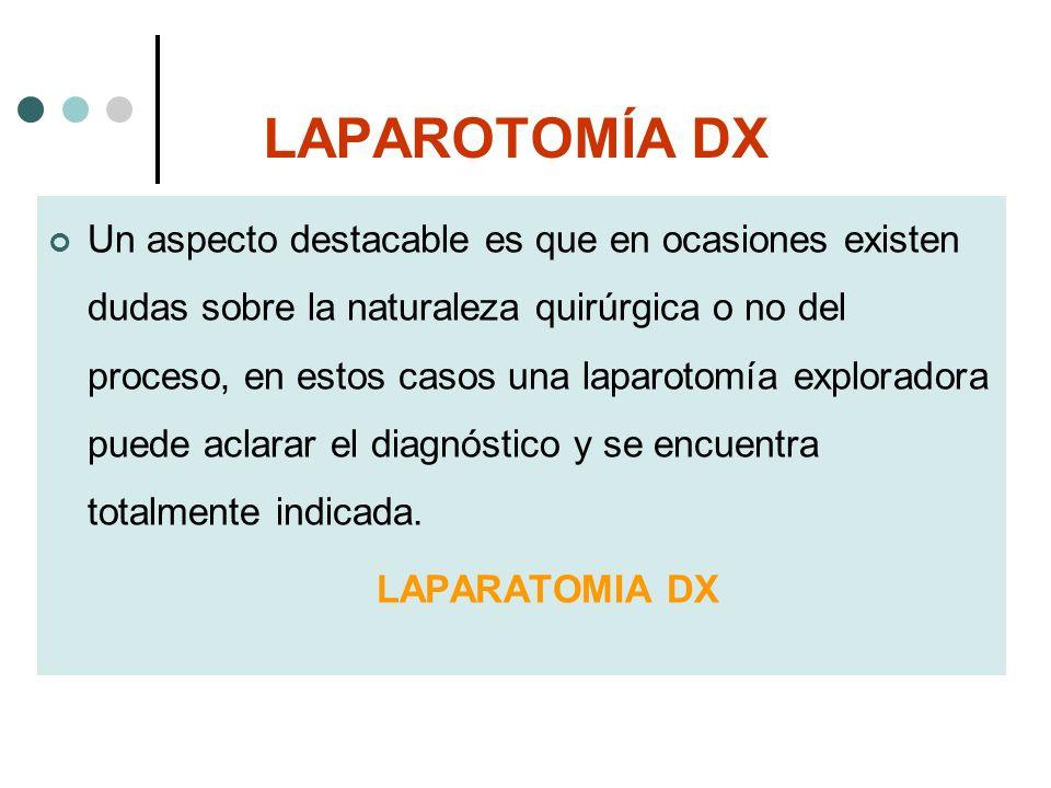 LAPAROTOMÍA DX