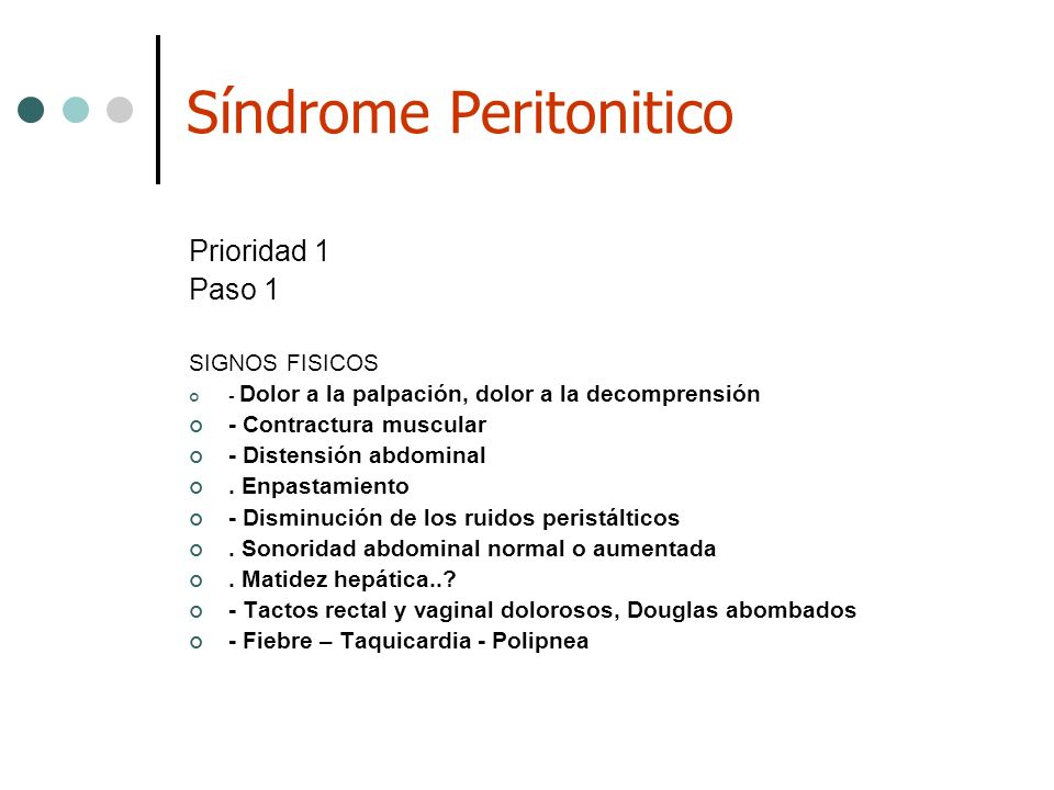 Síndrome Peritonitico
