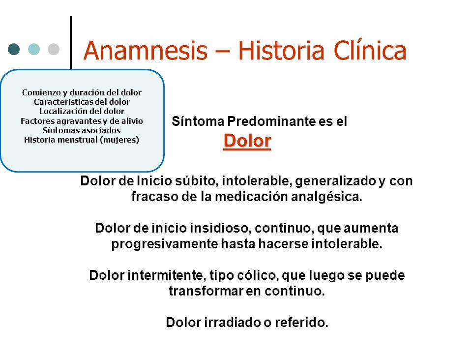Anamnesis – Historia Clínica