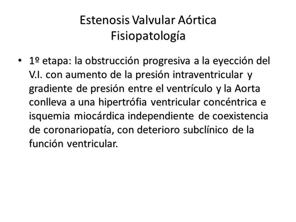Estenosis Valvular Aórtica Fisiopatología