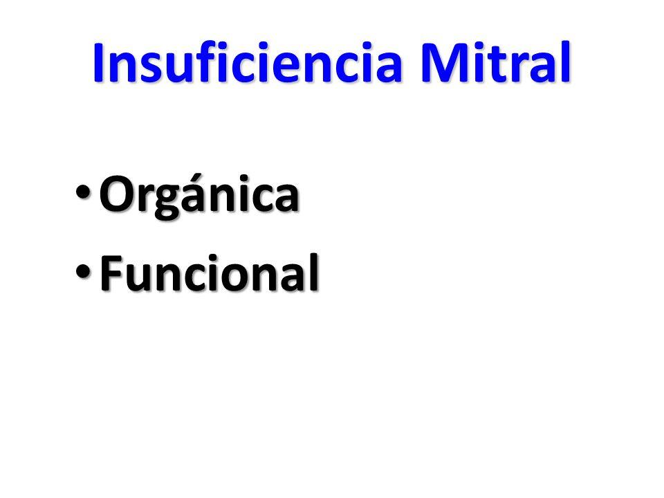 Insuficiencia Mitral Orgánica Funcional