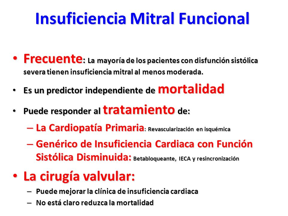 Insuficiencia Mitral Funcional