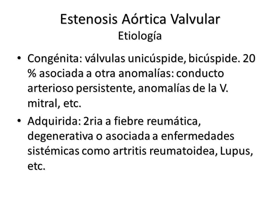 Estenosis Aórtica Valvular Etiología