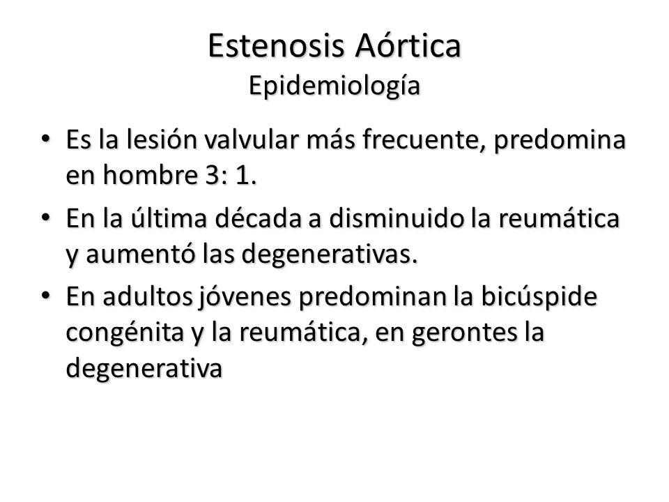 Estenosis Aórtica Epidemiología