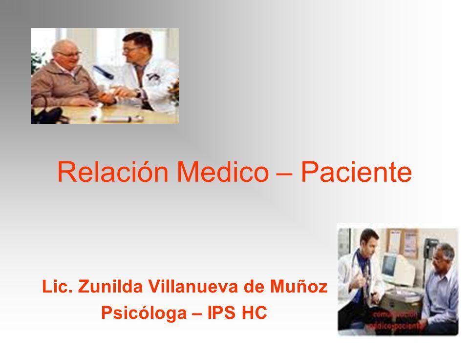 Relación Medico – Paciente