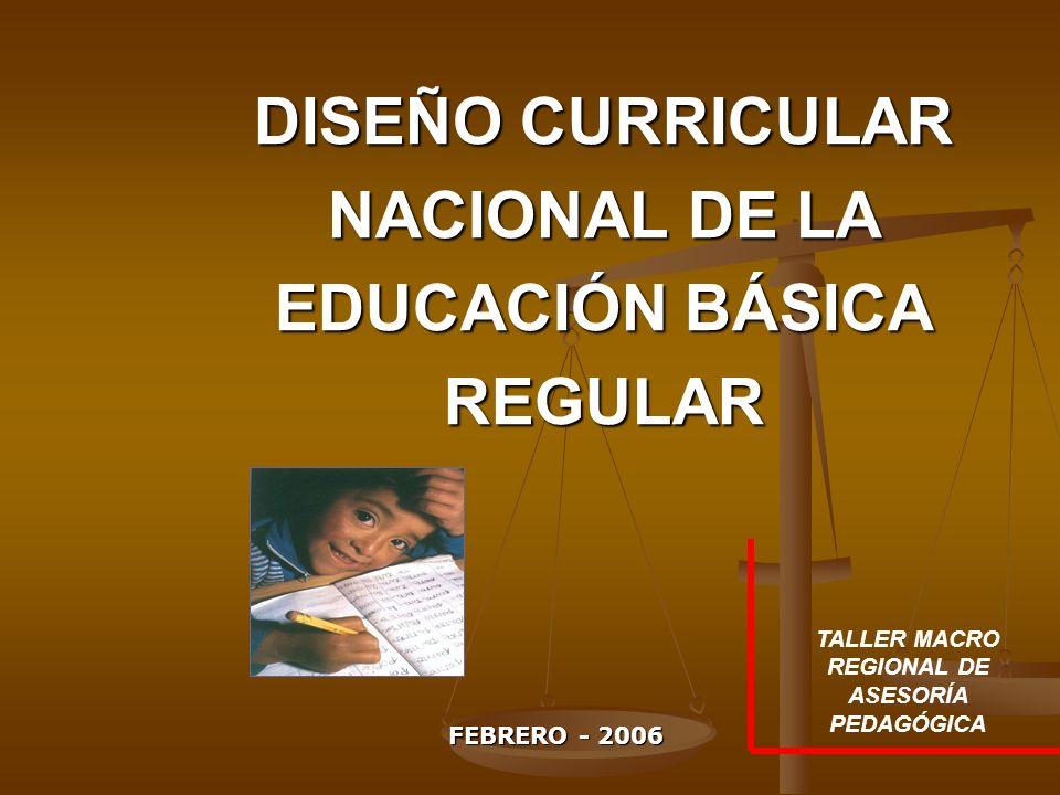 Diseño Curricular Nacional De La Educación Básica Regular