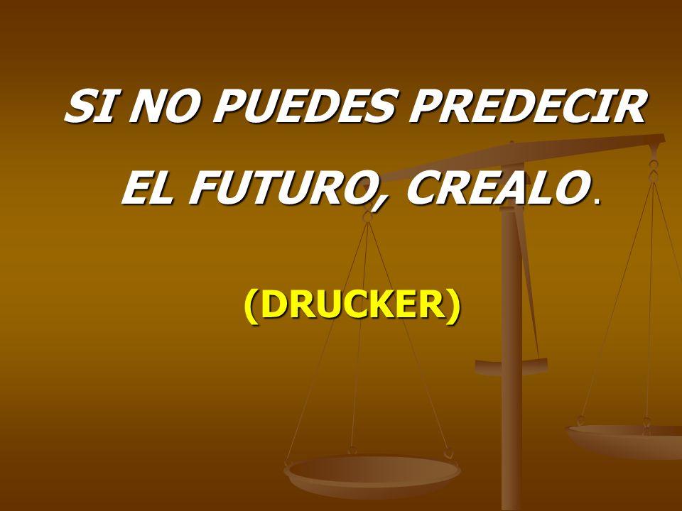 SI NO PUEDES PREDECIR EL FUTURO, CREALO .