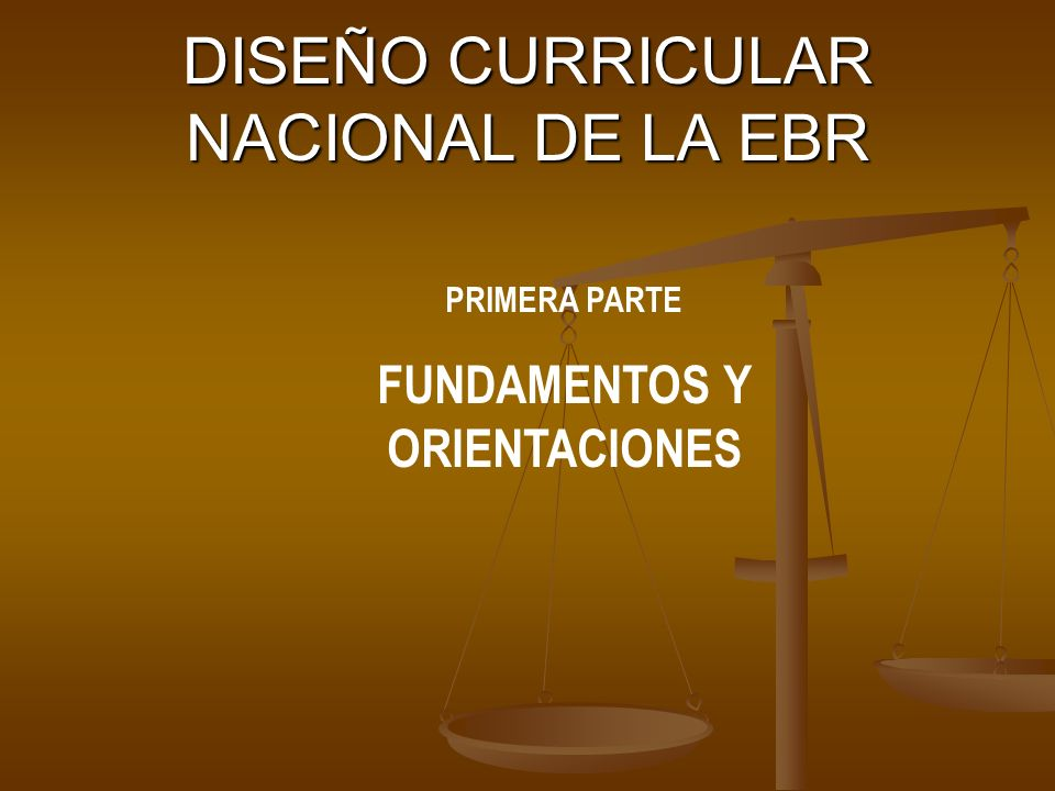 DISEÑO CURRICULAR NACIONAL DE LA EBR