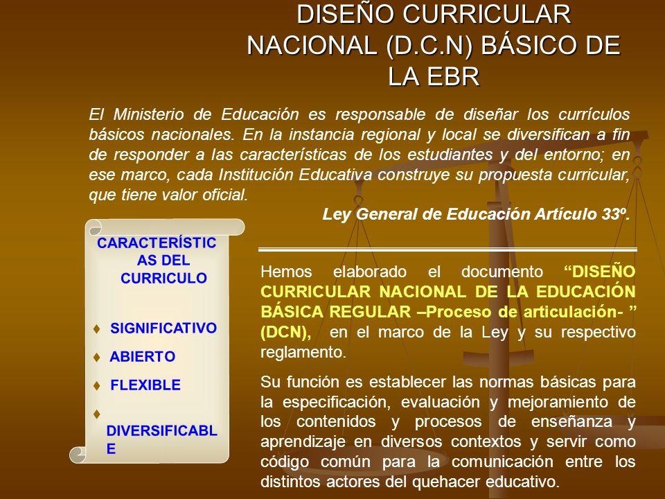 DISEÑO CURRICULAR NACIONAL (D.C.N) BÁSICO DE LA EBR