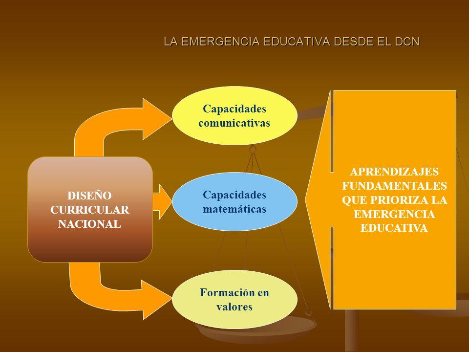 LA EMERGENCIA EDUCATIVA DESDE EL DCN