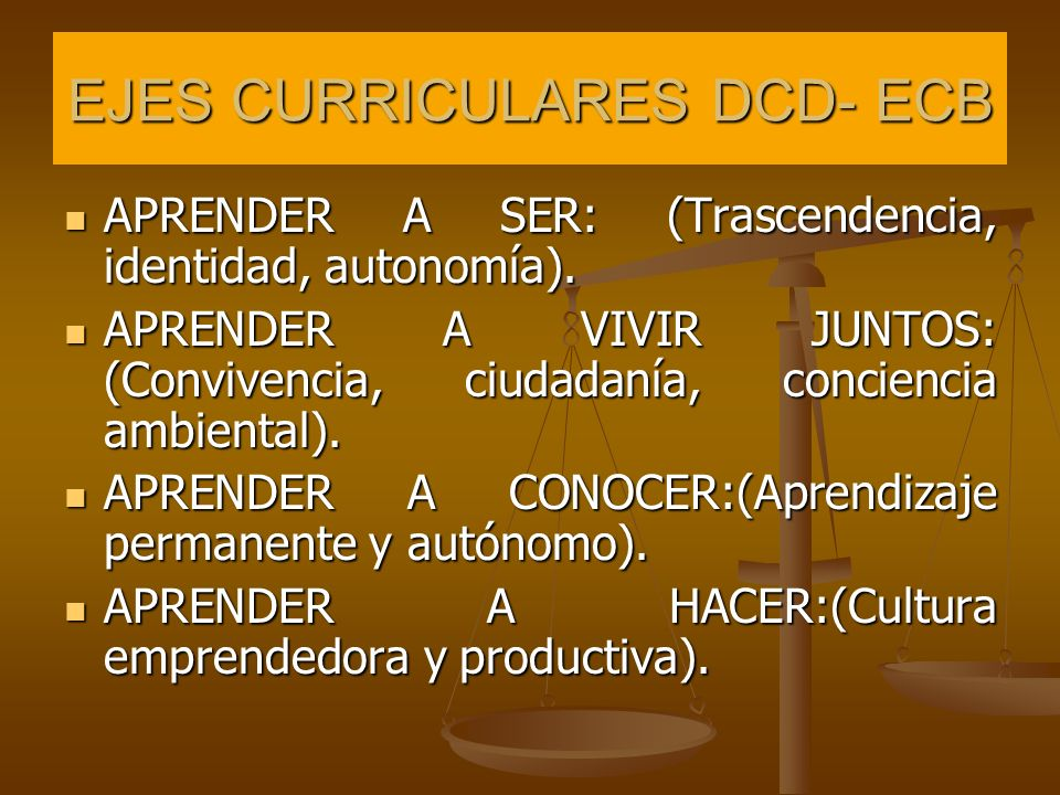 EJES CURRICULARES DCD- ECB