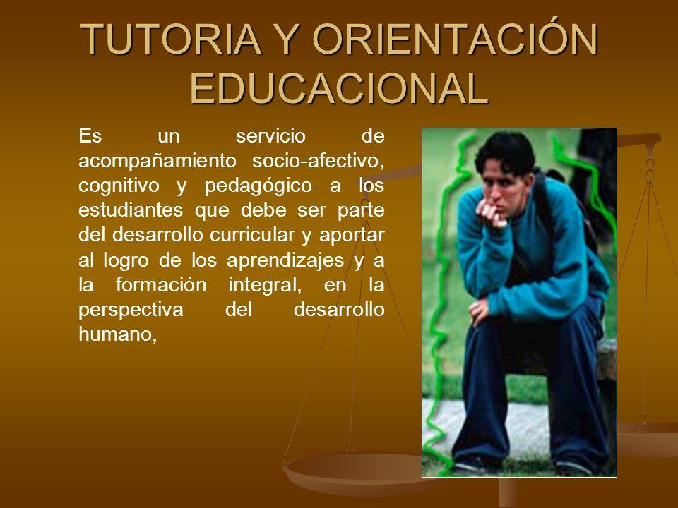 TUTORIA Y ORIENTACIÓN EDUCACIONAL