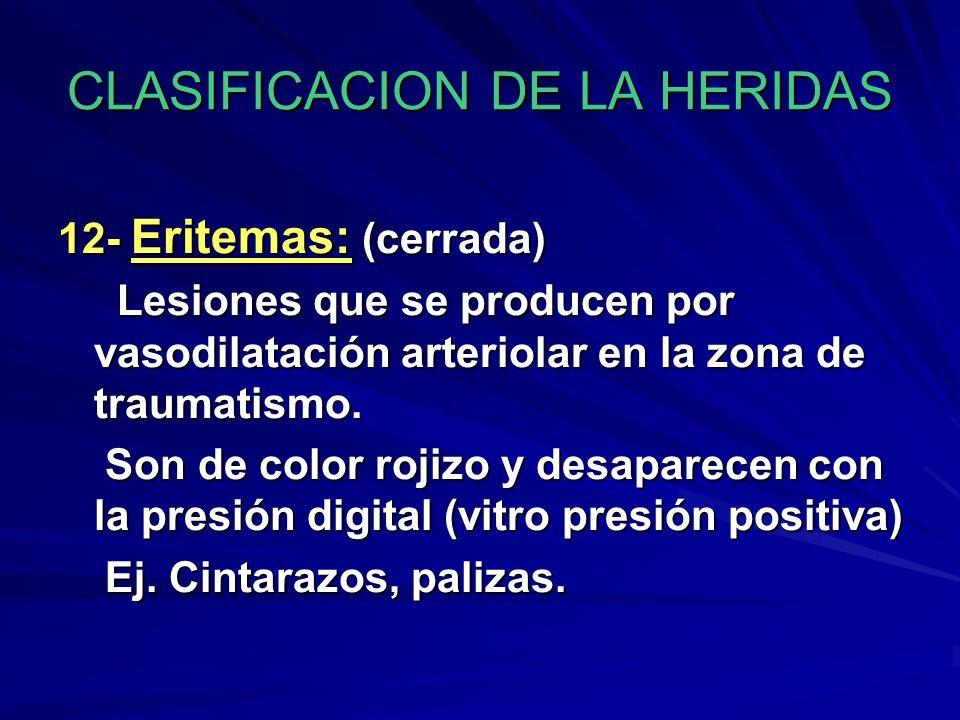 CLASIFICACION DE LA HERIDAS