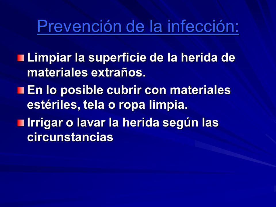 Prevención de la infección: