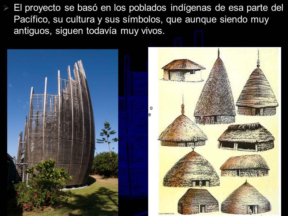 El proyecto se basó en los poblados indígenas de esa parte del Pacífico, su cultura y sus símbolos, que aunque siendo muy antiguos, siguen todavía muy vivos.