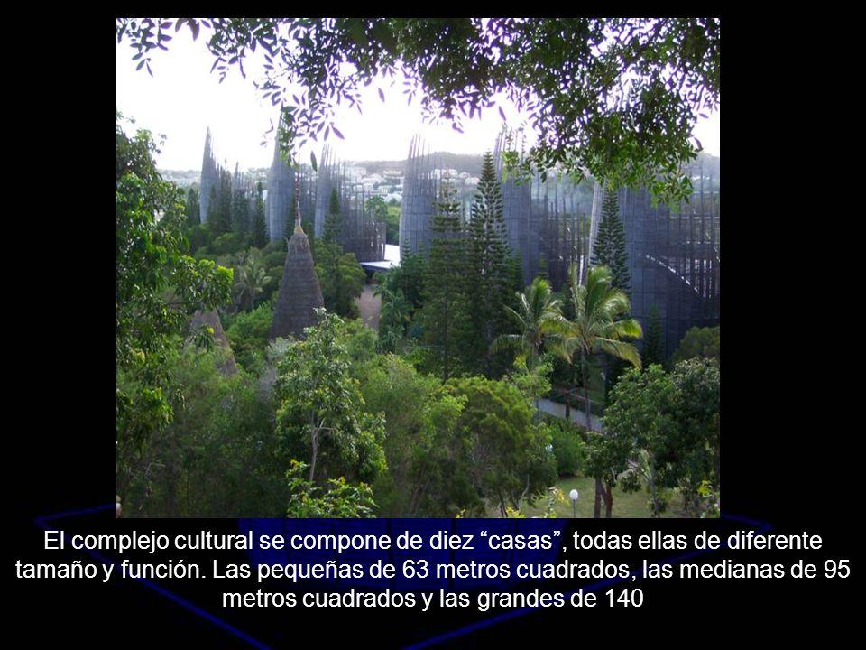 El complejo cultural se compone de diez casas , todas ellas de diferente tamaño y función.