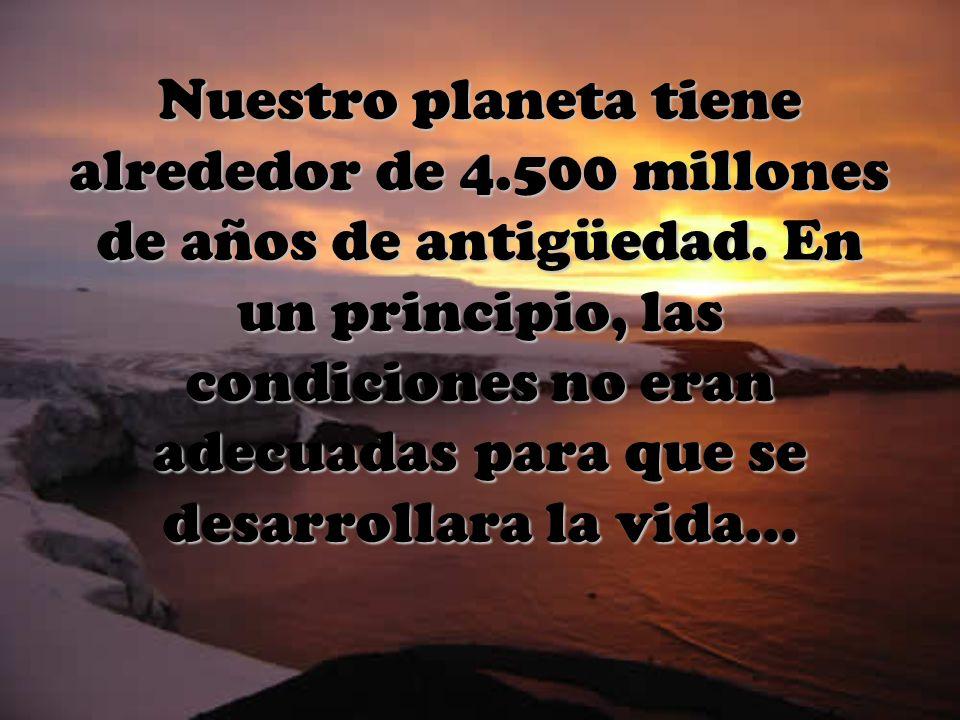 Nuestro planeta tiene alrededor de 4