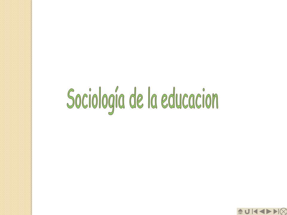 Sociología de la educacion