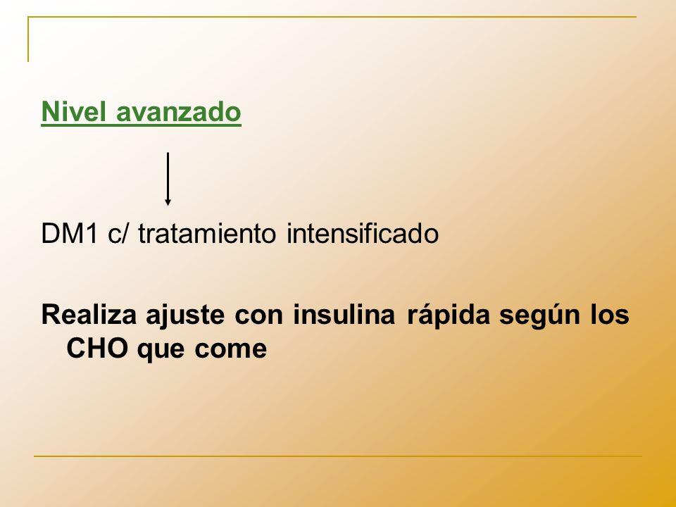 Nivel avanzadoDM1 c/ tratamiento intensificado.