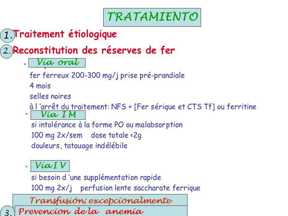Transfusión: excepcionalmente