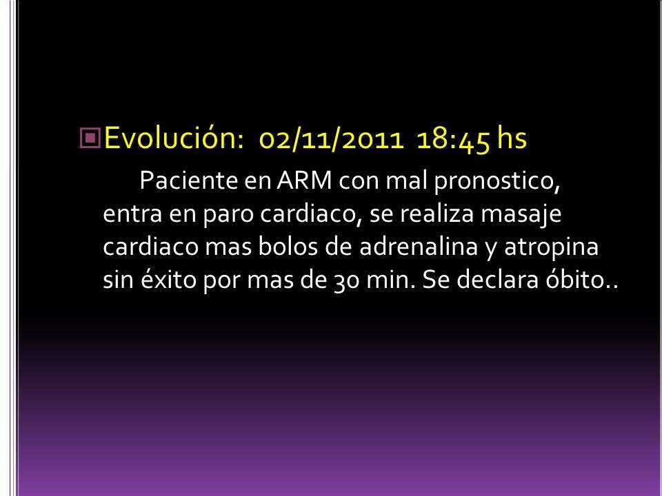 Evolución: 02/11/2011 18:45 hs