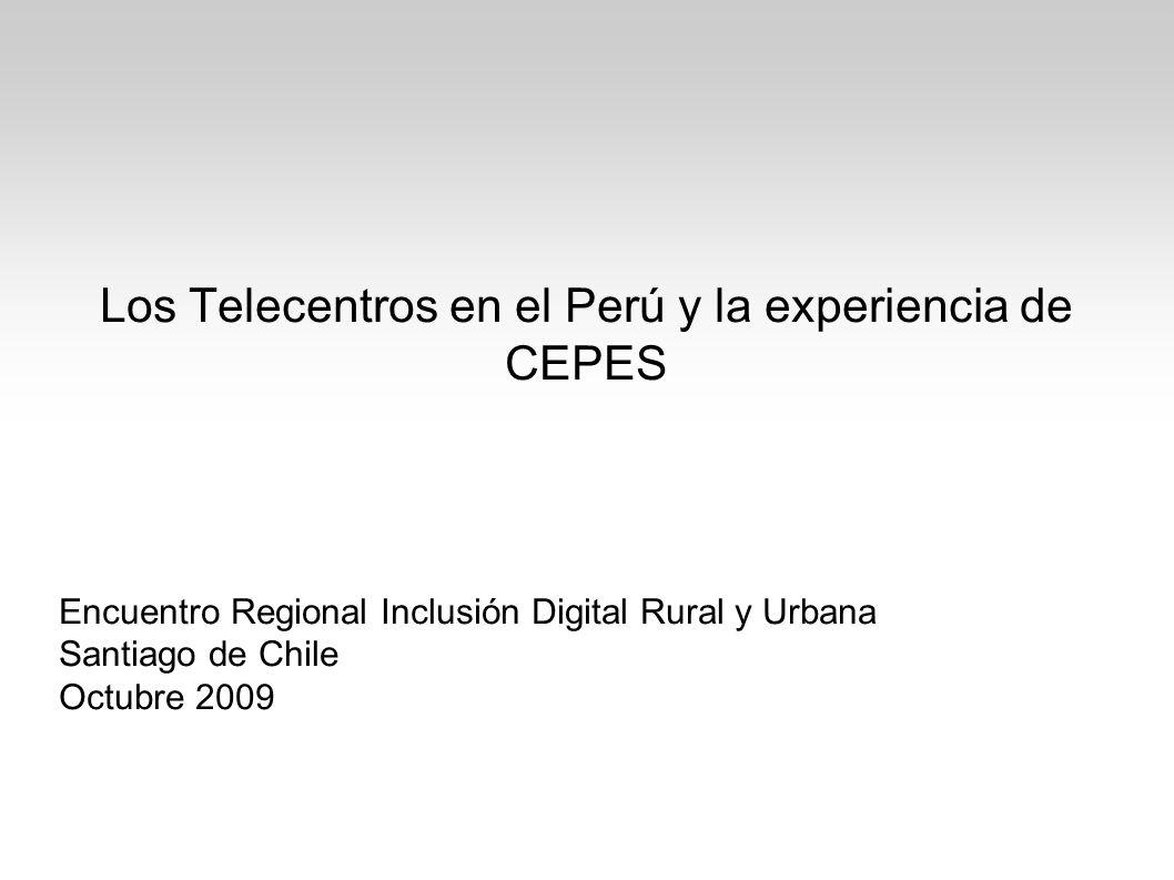 Los Telecentros en el Perú y la experiencia de CEPES