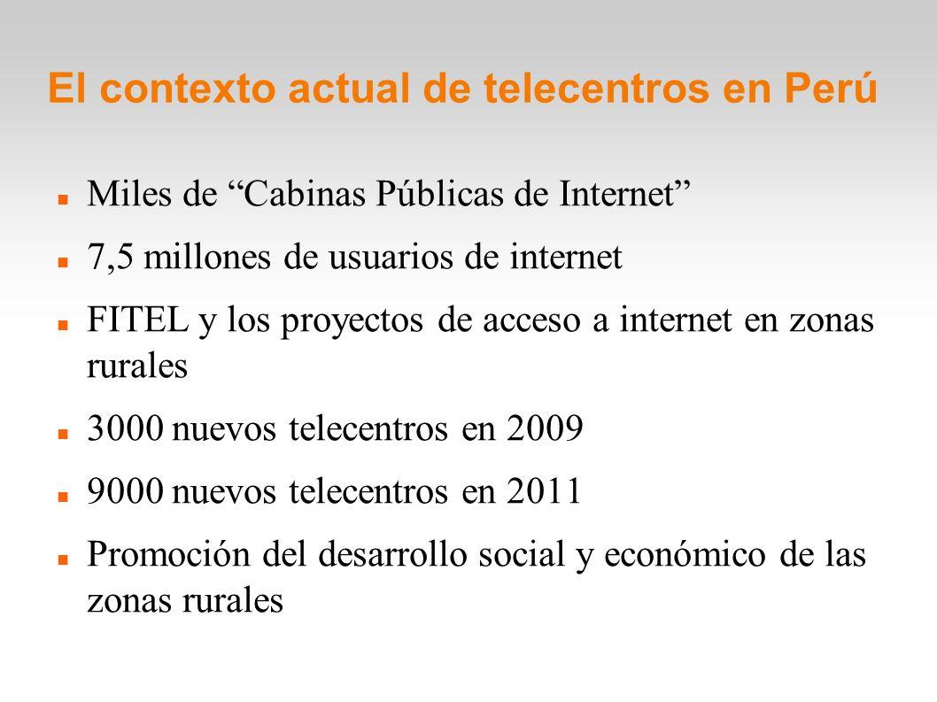 El contexto actual de telecentros en Perú