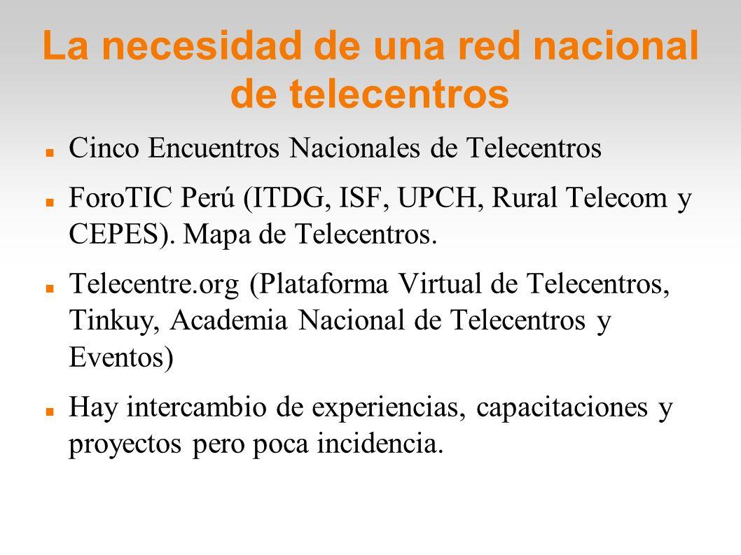 La necesidad de una red nacional de telecentros