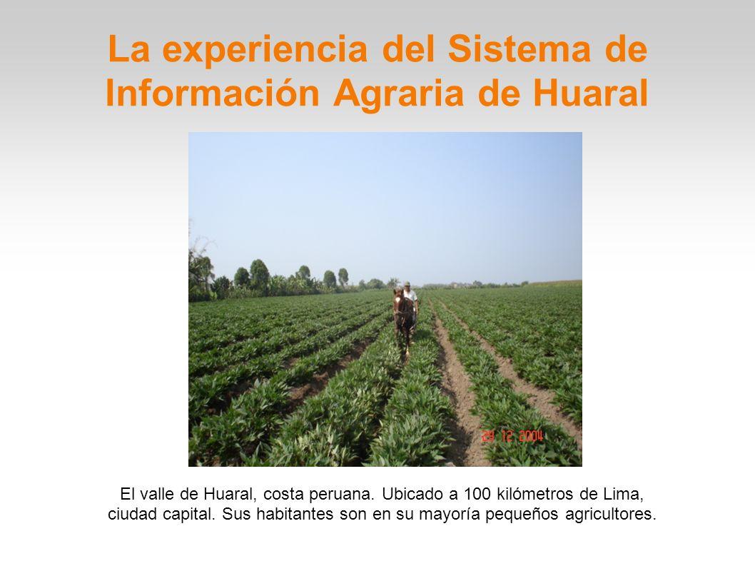 La experiencia del Sistema de Información Agraria de Huaral