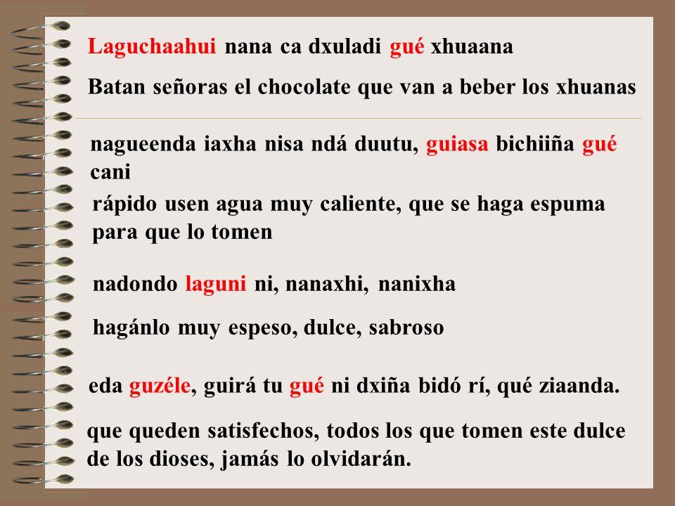 Laguchaahui nana ca dxuladi gué xhuaana