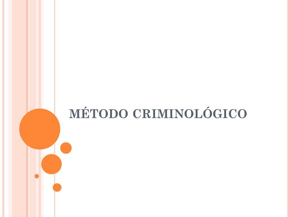 MÉTODO CRIMINOLÓGICO