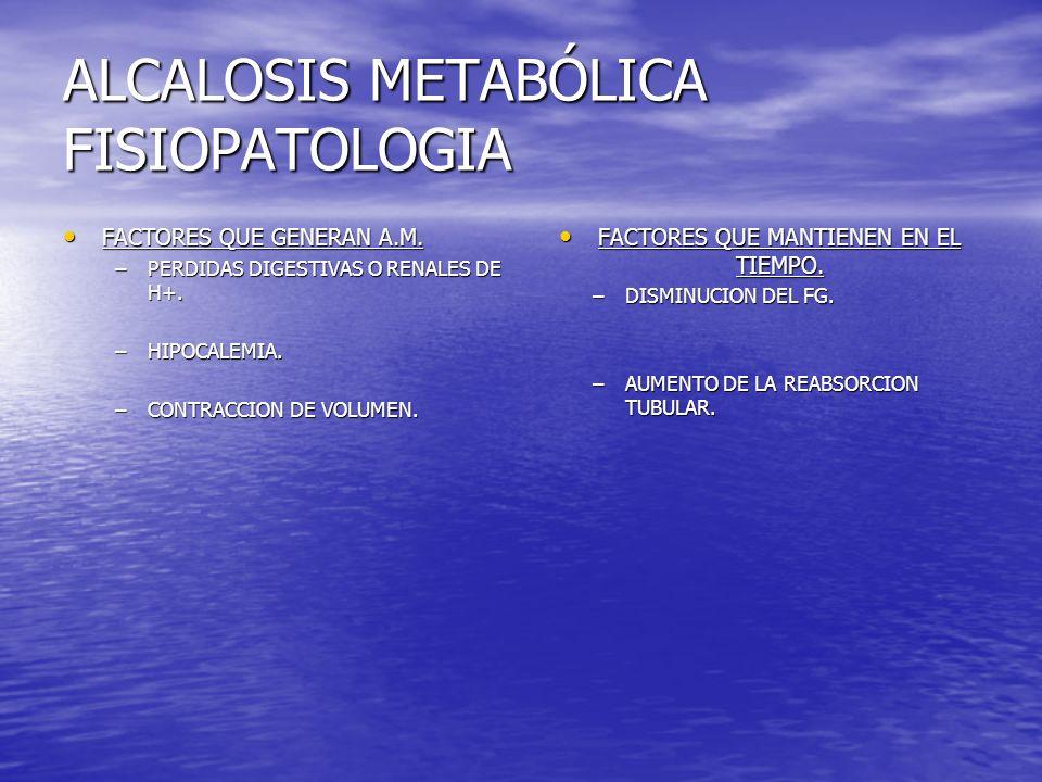 ALCALOSIS METABÓLICA FISIOPATOLOGIA