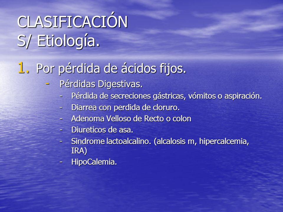 CLASIFICACIÓN S/ Etiología.
