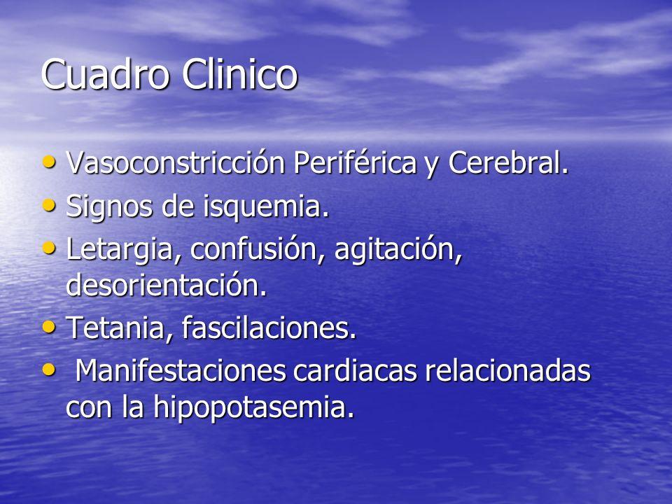 Cuadro Clinico Vasoconstricción Periférica y Cerebral.